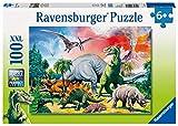 Ravensburger Kinderpuzzle - 10957 Unter Dinosauriern - Dino Puzzle für Kinder ab 6 Jahren, mit 100 Teilen im XXL-Format