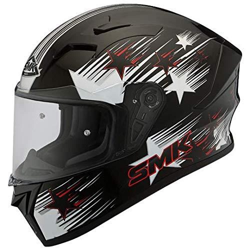 SMK Helmets - Stellar - Rain Star - Black White Red -...