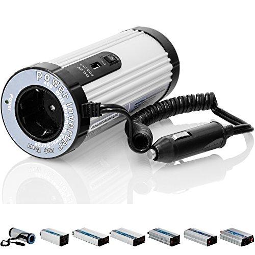 VOLTRONIC® MODIFIZIERTER Sinus Spannungswandler 200W mit E-Kennzeichen, 12V auf 230V, USB, Stromwandler Inverter Wechselrichter Auto PKW