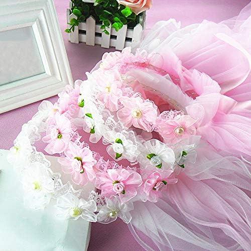 XKMY Children's Flower Veil Headdress Wreath Romantic Wedding Party Flower Headband (Color : 09)