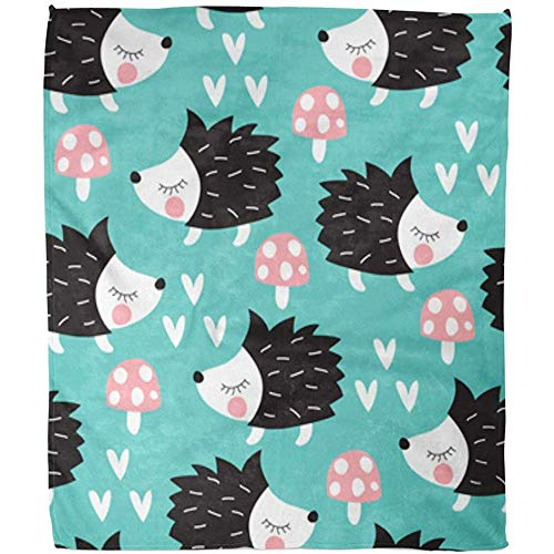 Throw Blanket kleurrijk authentieke snoepjes patroon Adorable Animal baby cartoon hotel deken Fuzzy Gettare warm zacht kantoor bank bed deken plafond plafond plafond 102 x 127C