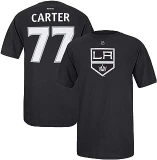 adidas Jeff Carter Reebok Los Angeles Kings Player Premier Black Jersey T-Shirt Men's