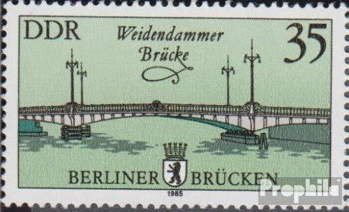 Prophila Collection DDR 2974I PF I, Lampenschirm fehlend (Feld 25) 1985 Historische Brücken in Berlin (Briefmarken für Sammler)