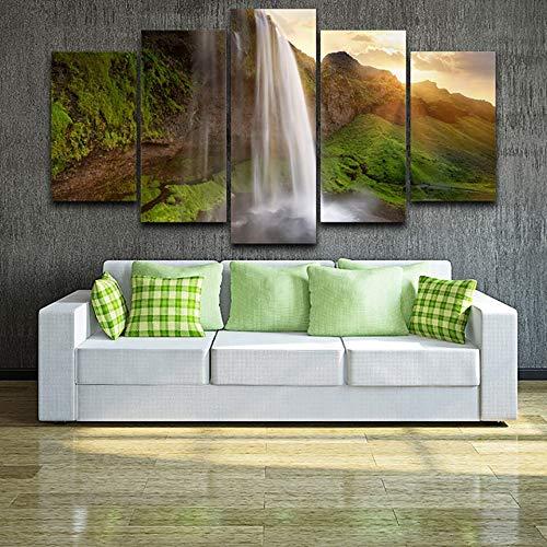 Kunstfoto op Woonkamer muur op Canvas HD Prints Waterval Dusk Landschap Moderne Schilderij Huisdecoratie Poster Frameless 40 * 60 40 * 80 40 * 100