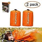 AmazeFan Emergency Sleeping Bag, Survival Sleeping Bag PE...