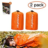 ☆【BE PREPARED FOR AN UNEXPECTED NIGHT OUT】--- You never know when you might get stranded in the wilderness. AmazeFan Emergency Survival Sleeping Bag provides emergency shelter and protection in case you get lost or have to spend the night outdoors. T...