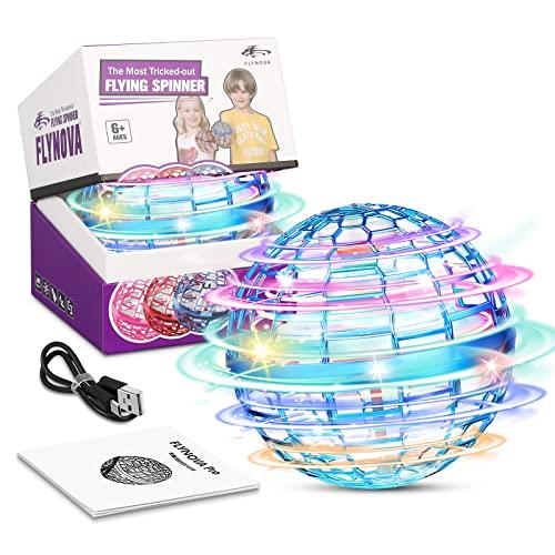 FLYNOVA PRO Mini Drohne 2021 Verbesserte,Drohne für Kinder Fliegender Ball Spielzeug,360° LED Leuchten Hover Ball Geschenke für Jungen Mädchen Indoor Outdoor Hoverball für Kinder Flying Ball(Blau)