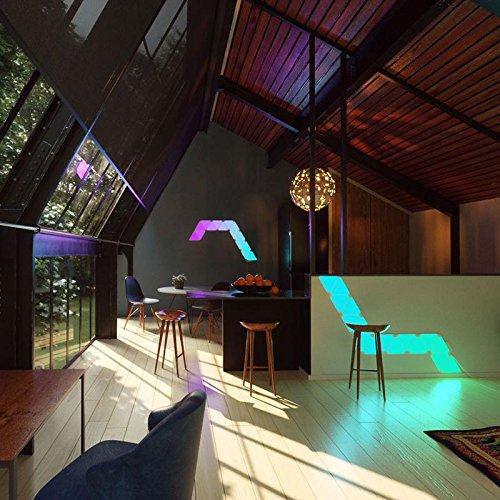 nanoleaf Aurora – 9x Modulare Smarte LED – Lichtpanels mit App Steuerung - 7