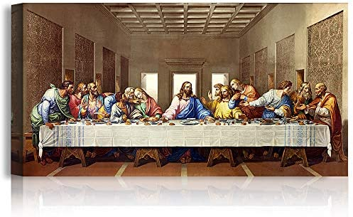 A T ARTWORK The Last Supper by Leonardo Da Vinci The World Classic Art Reproductions Giclee product image