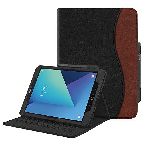 Fintie Case for Samsung Galaxy Tab S3 9.7, [Corner Protection] Multi-Angle Viewing Stand Cover Pocket with S Pen Protective Holder Auto Sleep/Wake for Tab S3 9.7(SM-T820/T825/T827), Dual Color