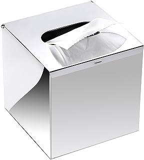 SZRWD Tissue pudełko na chusteczki kosmetyczne ze stali nierdzewnej, srebrne, do łazienki, salonu, łazienki, hotelu, resta...