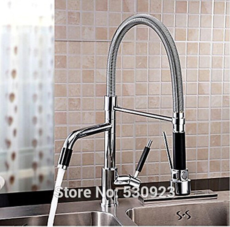 Maifeini Modern Fashion Solid Brassfinish Küche Waschbecken Wasserhahn Ziehen, Klopfen Sie Auslauf Einzigen Griff Einzelne Bohrung Deck Mount