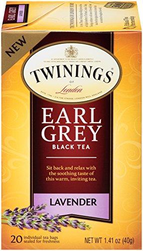 Twinings of London Lavender Earl Grey Tea Bags, 20 Count (Pack of 6)