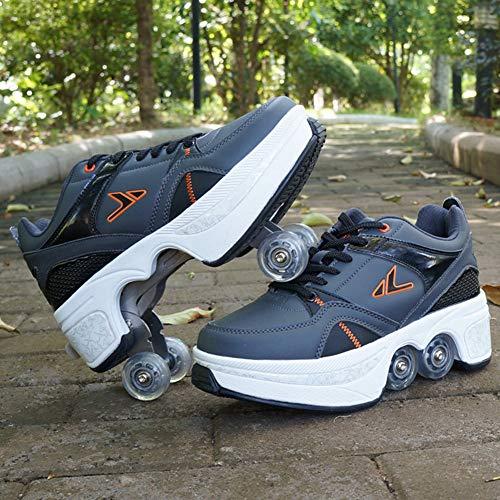 HealHeatersR Automatische Vervorming Walking Schoenen Onzichtbare Roller Schoenen met Slijtvaste Antislip Bodem Dubbele Rij Vervormen Wiel Outdoor Sport