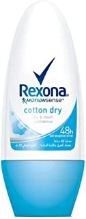 Rexona Women Antiperspirant Roll-On Cotton Dry, 50 ml