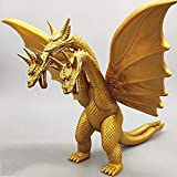 XYXY Godzilla Action Figures Model King Ghidorah King Movie The Monster Series Moving Cartoon Collectors Kids Toy 15 cm (Color : Gold)