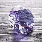 Lucky House 80 mm Color Cristal Diamante Rosa Pisapapeles Rojo Piedra Preciosa Gigante Feliz cumpleaños Fiesta de Bodas Regalo Decorativo de Gracia Juguete (púrpura)