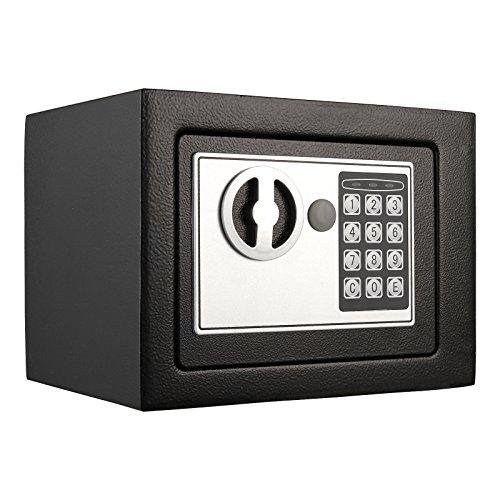 ANMAS HOME Caja de Seguridad electrónica Digital Personal con Caja de Seguridad, Color Negro