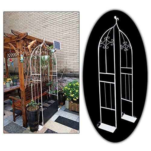 SYLJ Arco de jardín para trepadoras, Arco Decorativo para Plantas Enredaderas, Soporte...