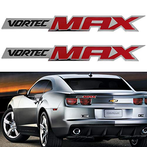 Tuxo CV-VMR Chrome Silver 2X New Vortec Max Side Fender Door Emblem Chevy Silverado Sierra SS Badge