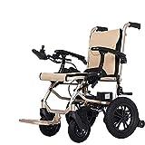 WLD Ancianos Discapacitados, Personas Mayores Silla de Ruedas Eléctrica Plegable de Peso Ligero de Cuatro Ruedas Inteligente Ancianos Discapacitados Scooter - ?Puede Estar en el Avión, Single