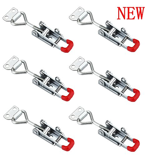 Anndason The Latest Adjustable Self-locking Buckle Toggle Latch Clamp 4012 (6PCS) (Style 4012)