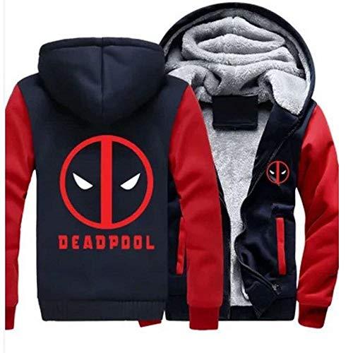 COZY LS Herren Hoodie Jacke Mit Kapuze Pullover Für Deadpool Print Beiläufige Nähte Zip Sweatshirt Langarm Mantel - Teen Geschenk A-5X-Large
