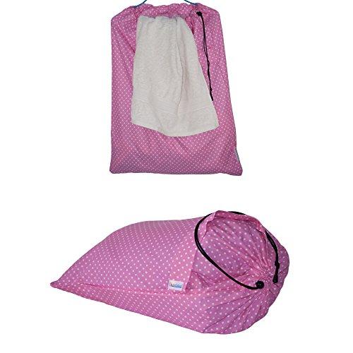 Dazoriginal Extra Large Laundry Bag Drawstring Fabric Laundry Basket Hamper Pink DOT X 1