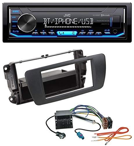 caraudio24 JVC KD-X351BT AUX USB Bluetooth MP3 Autoradio für Seat Ibiza 6J ab 08 nitschwarz AN1