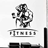 Stickers muraux et peintures murales 57x58 cm stickers muraux art décalque décoration affiche muscle fille homme fort haltère musculation fitness vinyle sticker mural gym décoration sticker mural