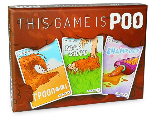 This Game is POOP - Family Friendly Card Game - Innovative & Strategic Card Game to Play with Friends, Family & Kids - 108 Custom Artwork Cards for Great Entertainment - Ideal for 2+ Players