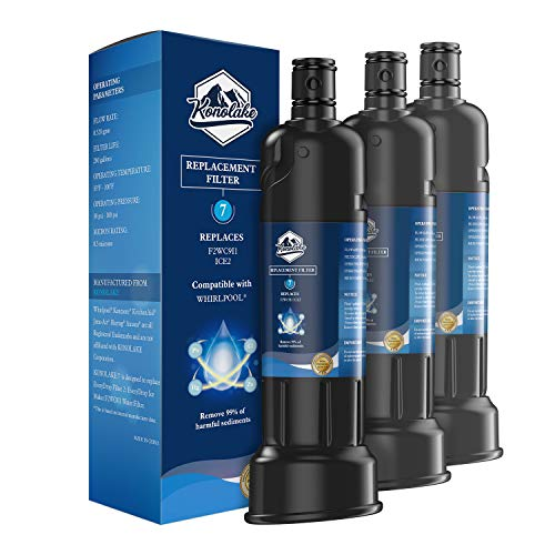 Konolake ICE2 F2WC9I1 Ice Maker Water Filter Compatible with W10565350, W10480323, 3 Packs