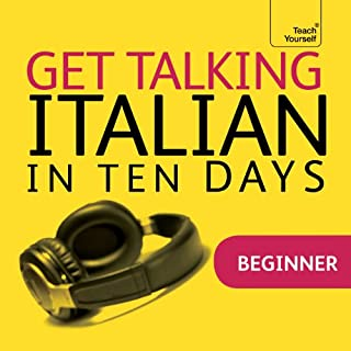 Get Talking Italian in Ten Days                   By:                                                                                                                                 Maria Guarnieri,                                                                                        Federica Sturani                               Narrated by:                                                                                                                                 Teach Yourself Languages                      Length: 2 hrs and 53 mins     4 ratings     Overall 3.5