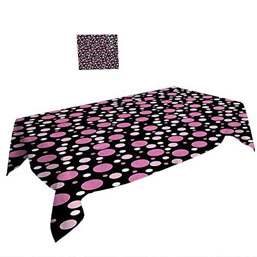 Warm Family Mantel Rectangular de Color Rosa con diseño de Cerezas, Color Rosa Claro y marrón Claro Adecuado para Todas Las Ocasiones, 25,5 x L65