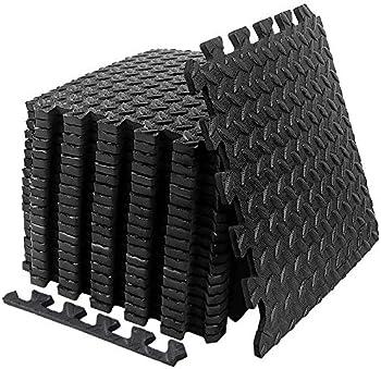 Suhedbn EVA Interlocking Foam Tiles Gym Exercise Equipment Mat