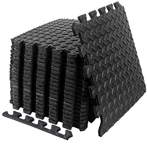 SUHEDBN Puzzle Exercise Floor Mat, EVA Interlocking Foam Tiles Exercise Equipment Mat Workout Mats Flooring for Home Gym 20 Square Feet Gym Floor Mats Interlocking Foam Gym Matt Rubber Cushion