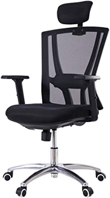 Office Gaming Chair Ergonomic with Arms, Desk Chair Computer Swivel Chair Fabric Adjustable Height for Home Office Furniture, Grey, 37(Color : Gray)