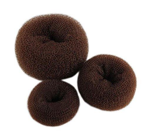 Demarkt knoopring groot knot knot kussen haarknoop knoop rol haardot donut knoopkussen haaraccessoires hair donut shaper hair bont maker 3 stuks bruin