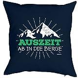 Dekokissen, Wandern Klettern Trekking Outdoor, Kissen mit Füllung für Bergfreunde und Bergsteiger...