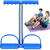 Covvy Elastic Spring Tension Foot Pedal Sit Up Pull Rope (Blue)