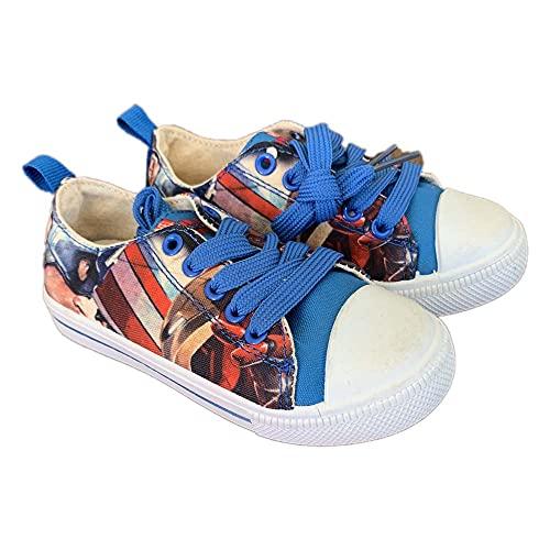 Zapatillas para niños   Capitán América   Zapatos de tela Superhéroes Avengers...
