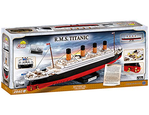 COBI - Historical Collecition R.M.S Titanic 1:300 (2840 PCS), Multicolor 42% off Amazon Prime $149.99