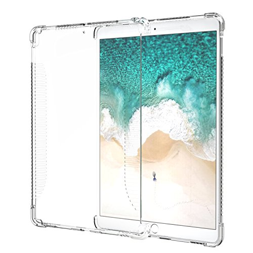 MoKo Hülle für New iPad Air (3. Generation) 10.5' 2019/iPad Pro 10.5 2017 - Soft Flexible TPU Kristall Klar Schale Schutzhülle Stoßdämpfung Crystal Case Cover Durchsichtig, Transparent