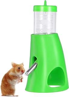UEETEK ハムスター 給水器 小動物用 自動 給水器 水飲み器 水漏れ防止機能付き 便利 取り付け簡単 小動物用品 飼育ケージ内装 小動物の隠れ家 小動物の隠れ家 グリーン