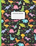 Black Dinosaurs Composition Notebook: Journal for Boys & Girls:   Fun Dinosaur and Prehistoric Life Pattern for Kids   Wide Ruled Book 8.5 x 11 in   ... to School Supplies for Teachers and Students