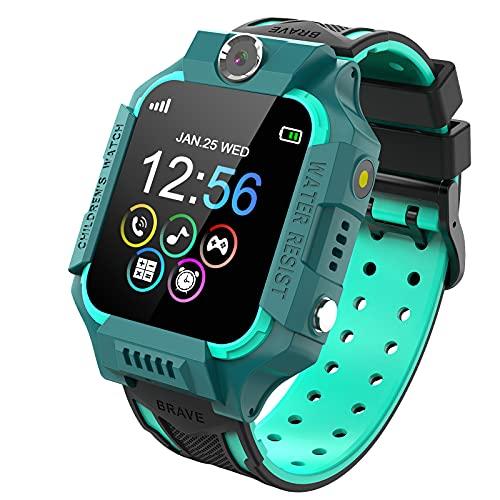 Kinder Smartwatch, Kind Uhr Telefon mit Zwei Wege Gespräch MP3 Kamera Rechner Rekorder und SOS Spiel Uhr für 3-15 Jahre alt Jungen Mädchen Geburtstags Geschenke