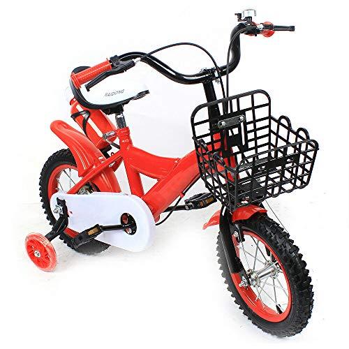 12 Inch Children First Bike Boys Girls Bicycle Princess Kids Training Wheel Gift (Red)