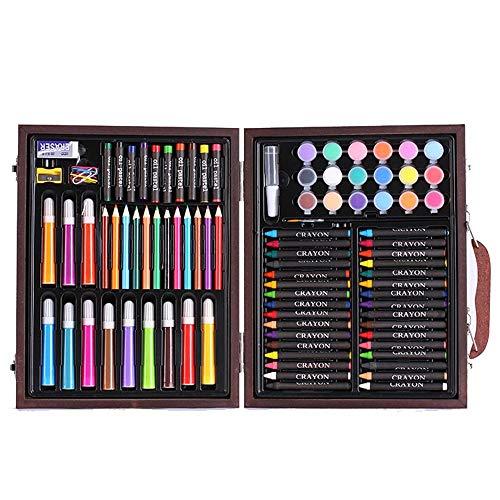 Tokyia Gráfico de los niños 101 Conjuntos de útiles Escolares Kinder Pincel de Pintura Suministros Pluma de la Acuarela Lápiz de Color de Escritorio del Arte del Regalo del Arte de Dibujo