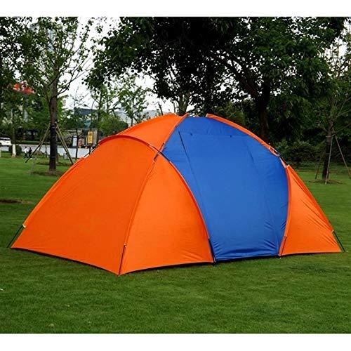 HHOSBFSS 5-8 Personas Tienda De Camping Grande, 420x220x175cm Doble Impermeable Doble Dormitorio Familia Familia Viajes Tienda De Viajes Pesca (Color : Orange)