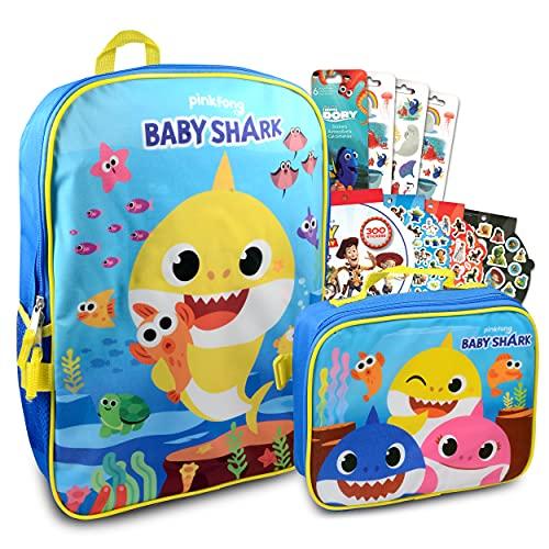 Baby Shark Backpack Lunch Box Set for Boys, Girls ~ 4 Pc Bundle...
